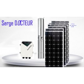 KIT POMPE SOLAIRE 1,5 KW 200 METRES  COMPLET
