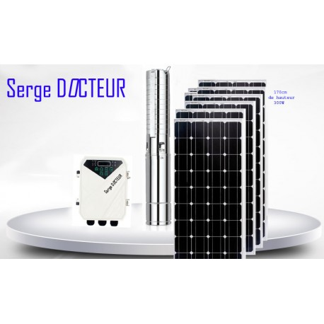 KIT POMPE SOLAIRE 1,5 KW 135 METRES COMPLET